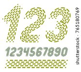 vector numbers  modern numerals ... | Shutterstock .eps vector #765180769