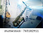 sax background musician stage... | Shutterstock . vector #765182911