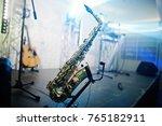 sax background musician stage... | Shutterstock . vector #765182911