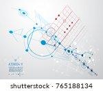 mechanical scheme  vector... | Shutterstock .eps vector #765188134