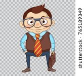 funny cartoon manager or... | Shutterstock .eps vector #765189349