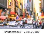 rush hour with defocused of... | Shutterstock . vector #765192109