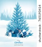 christmas holiday background... | Shutterstock .eps vector #765193414