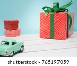 colorful gift box warp white... | Shutterstock . vector #765197059
