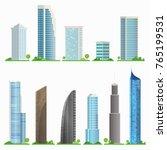 set of city skyscrapers...   Shutterstock .eps vector #765199531