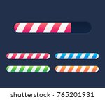 progress loading bars set ... | Shutterstock .eps vector #765201931