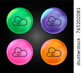 synchronize sign of a cloud... | Shutterstock .eps vector #765202081