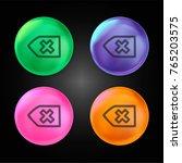 undo arrow hand drawn symbol... | Shutterstock .eps vector #765203575