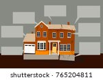 exterior of a house in need of... | Shutterstock .eps vector #765204811