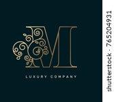 vector graphic elegant logotype ... | Shutterstock .eps vector #765204931