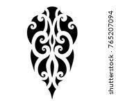maori polynesian tattoo | Shutterstock .eps vector #765207094