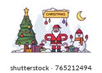 christmas vector illustration | Shutterstock .eps vector #765212494