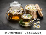 cup of chamomile tea | Shutterstock . vector #765213295