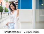 summer sunny lifestyle fashion... | Shutterstock . vector #765216001
