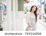 summer sunny lifestyle fashion... | Shutterstock . vector #765216004