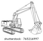 construction machine vehicle.... | Shutterstock .eps vector #765216997