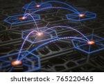 3d illustration. conceptual... | Shutterstock . vector #765220465
