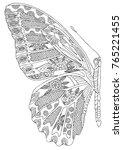 hand drawn butterfly wings.... | Shutterstock .eps vector #765221455