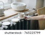 female maker ceramics working... | Shutterstock . vector #765225799