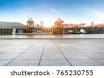 empty floor and container... | Shutterstock . vector #765230755