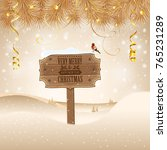 christmas background with... | Shutterstock . vector #765231289
