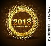 illustration of happy new year... | Shutterstock . vector #765231889
