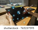 smart industry and automation... | Shutterstock . vector #765237595