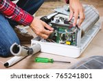 air conditioning service ... | Shutterstock . vector #765241801