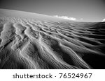 Patterns In The Sand Dunes At...