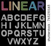 linear font. vector alphabet ... | Shutterstock .eps vector #765250165