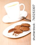homemade cookies and a cup of... | Shutterstock . vector #765252307