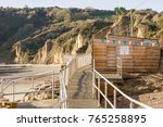 beach cafe  whitecliff bay ... | Shutterstock . vector #765258895