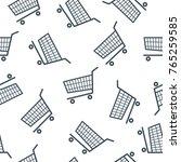shopping cart icon seamless... | Shutterstock .eps vector #765259585
