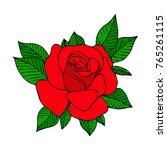 rose vector illustration.... | Shutterstock .eps vector #765261115