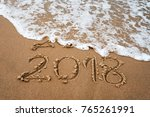 happy new year 2018 replace... | Shutterstock . vector #765261991