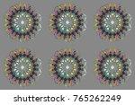 winter snowflake. snowflake... | Shutterstock . vector #765262249