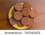 chocolate cookies with cream... | Shutterstock . vector #765262621