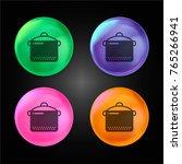 slow cooker crystal ball design ...   Shutterstock .eps vector #765266941