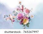 flowers are full of romance ... | Shutterstock . vector #765267997