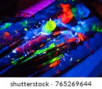 ultraviolet dyes and brushes in ... | Shutterstock . vector #765269644