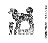 2018. greeting chinese new year ...   Shutterstock . vector #765270151