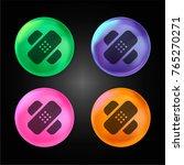 bandage cross crystal ball... | Shutterstock .eps vector #765270271