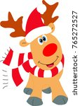 cute christmas reindeer with... | Shutterstock .eps vector #765272527