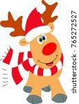 cute christmas reindeer with... | Shutterstock .eps vector #765272527