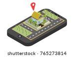 mobile navigation  vector...   Shutterstock .eps vector #765273814