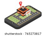 mobile navigation  vector... | Shutterstock .eps vector #765273817