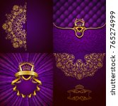 set of luxury ornate... | Shutterstock . vector #765274999