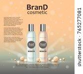 3d realistic cosmetic bottle... | Shutterstock .eps vector #765277081