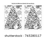 winter holidays  new year or... | Shutterstock .eps vector #765280117
