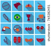 brazil icons collection. vector ... | Shutterstock .eps vector #765282451